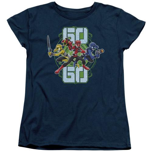 Image for Power Rangers Woman's T-Shirt - Beast Morphers Go Go