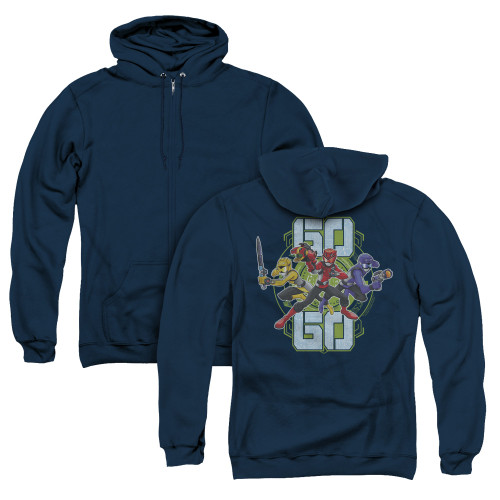 Image for Power Rangers Zip Up Back Print Hoodie - Beast Morphers Go Go