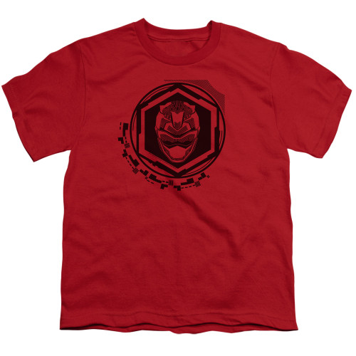 Image for Power Rangers Youth T-Shirt - Beast Morphers Red Ranger Icon