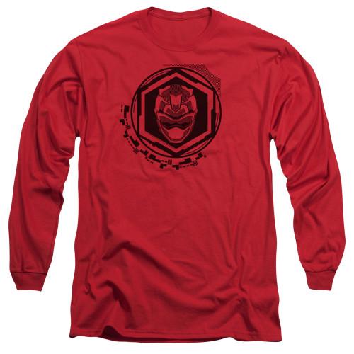 Image for Power Rangers Long Sleeve T-Shirt - Beast Morphers Red Ranger Icon