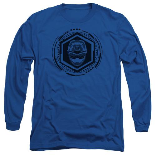 Image for Power Rangers Long Sleeve T-Shirt - Beast Morphers Blue Ranger Icon
