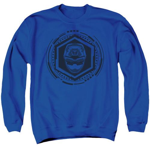 Image for Mighty Morphin Power Rangers Crewneck - Beast Morphers Blue Ranger Icon