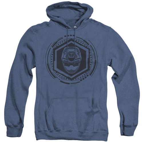 Image for Power Rangers Heather Hoodie - Beast Morphers Blue Ranger Icon