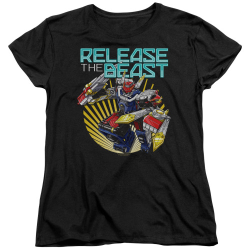 Image for Power Rangers Woman's T-Shirt - Beast Morphers Breast Release