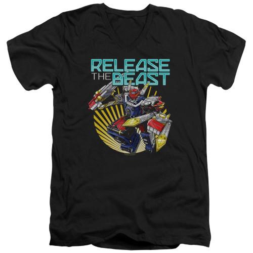 Image for Power Rangers T-Shirt - V Neck - Beast Morphers Breast Release