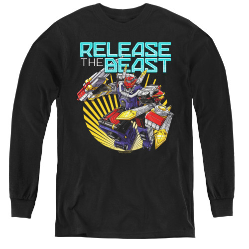 Image for Power Rangers Youth Long Sleeve T-Shirt - Beast Morphers Breast Release