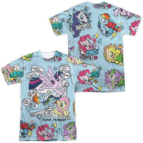 Image for My Little Pony Sublimated T-Shirt - Friendship is Magic Pony Comic 100% Polyester