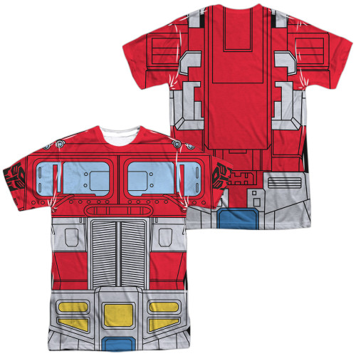 Image for Transformers Sublimated T-Shirt - Optimus Prime Costume 100% Polyester