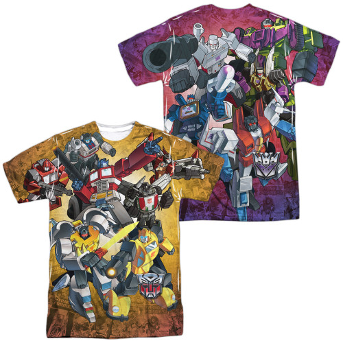 Image for Transformers Sublimated T-Shirt - Autobots vs Decepticons 100% Polyester