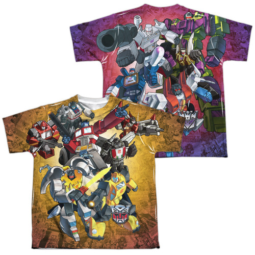 Image for Transformers Youth Sublimated T-Shirt - Autobots vs Decepticons