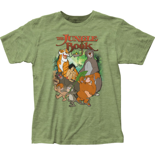 Image for The Jungle Book Main Characters T-Shirt