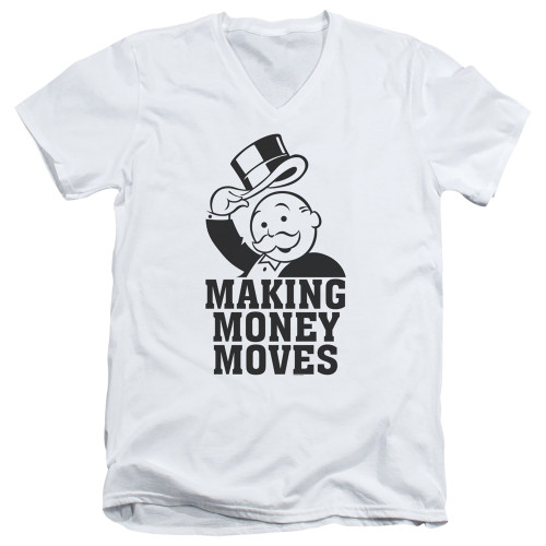 Image for Monopoly T-Shirt - V Neck - Money Moves