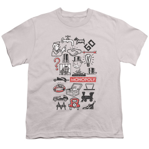 Image for Monopoly Youth T-Shirt - Icons