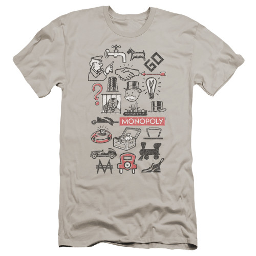 Image for Monopoly Premium Canvas Premium Shirt - Icons
