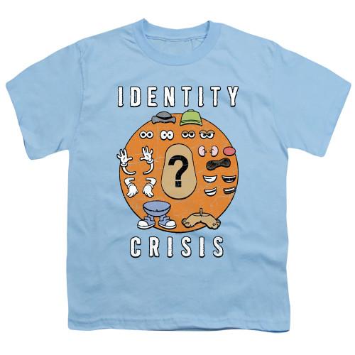 Image for Mr. Potato Head Youth T-Shirt - Identity Crisis
