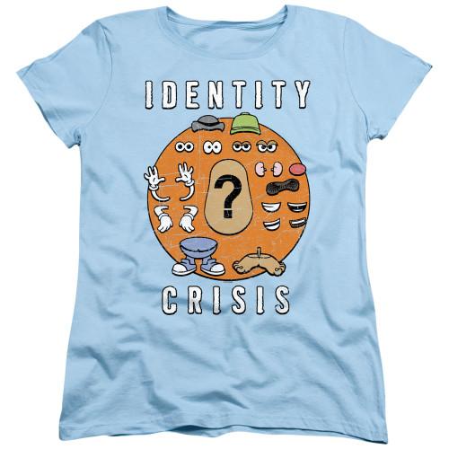 Image for Mr. Potato Head Woman's T-Shirt - Identity Crisis