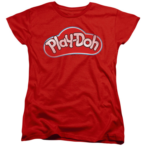 Image for Play Doh Woman's T-Shirt - Red Lid