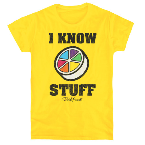 Image for Trivial Pursuit Woman's T-Shirt - I Know Stuff