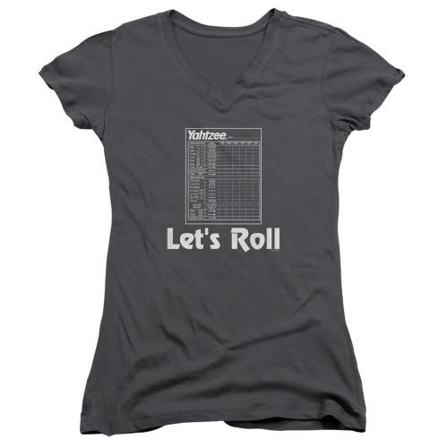 Image for Yahtzee Girls V Neck T-Shirt - Let's Roll