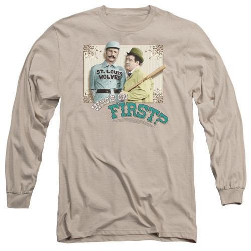 Image for Abbott & Costello Long Sleeve Shirt - Who's on First