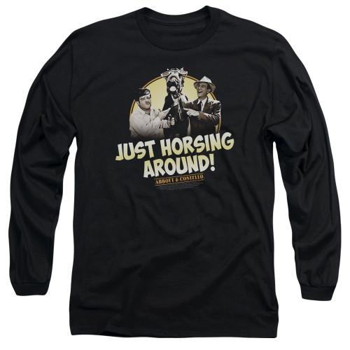 Image for Abbott & Costello Long Sleeve Shirt - Horsing Around