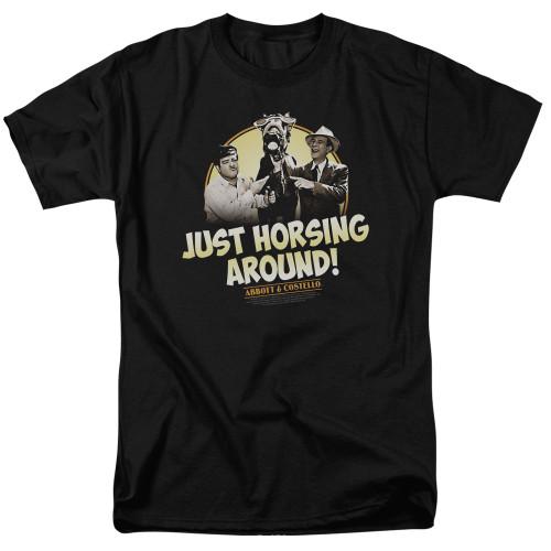 Image for Abbott & Costello T-Shirt - Horsing Around