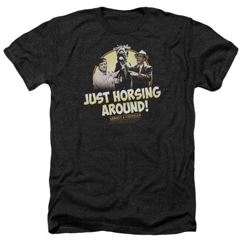 Image for Abbott & Costello Heather T-Shirt - Horsing Around
