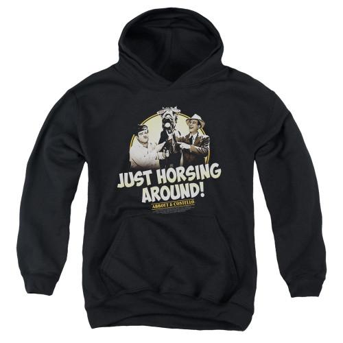 Image for Abbott & Costello Youth Hoodie - Horsing Around