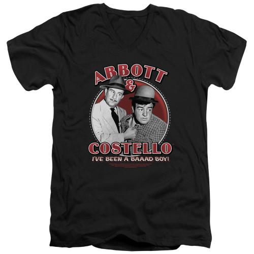 Image for Abbott & Costello V Neck T-Shirt - Bad Boy