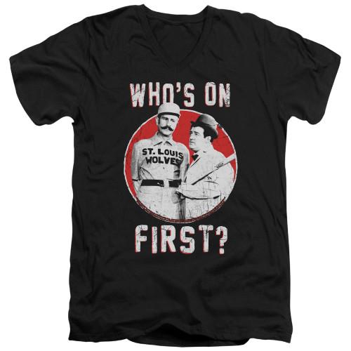 Image for Abbott & Costello V Neck T-Shirt - First
