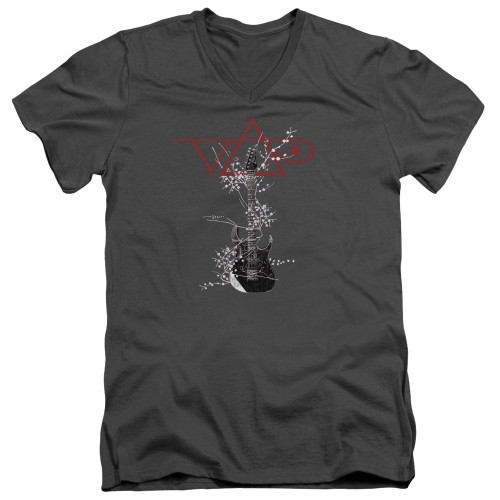 Image for Steve Vai V Neck T-Shirt - Vai Axe