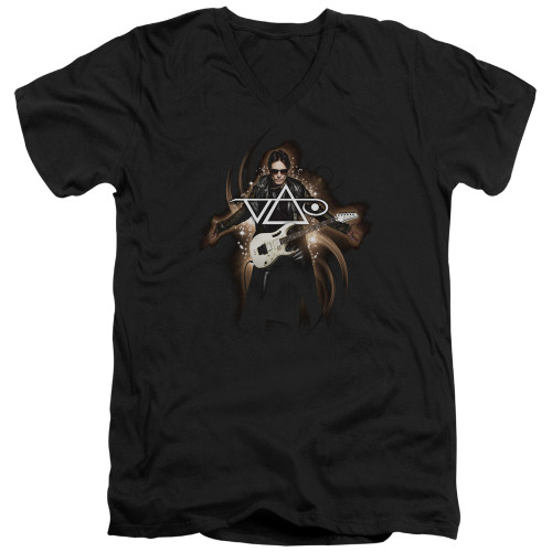 Image for Steve Vai V Neck T-Shirt - Vai Guitar