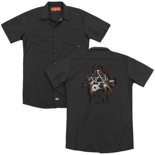 Image for Steve Vai Dickies Work Shirt - Vai Guitar