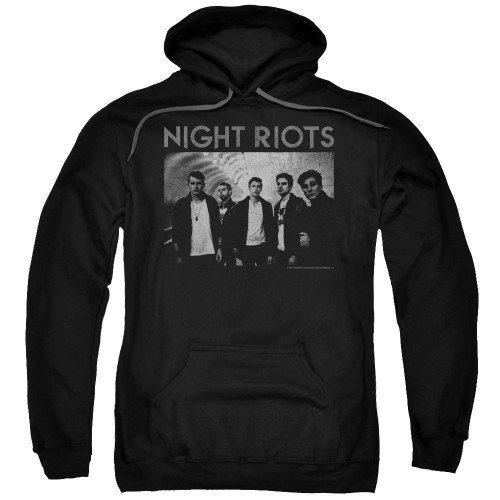 Image for Night Riots Hoodie - Greyscale