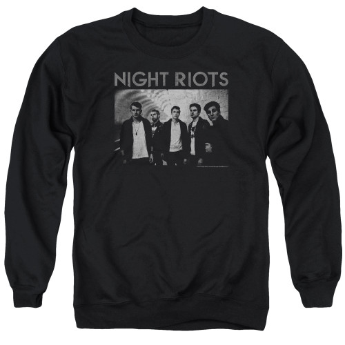 Image for Night Riots Crewneck - Greyscale