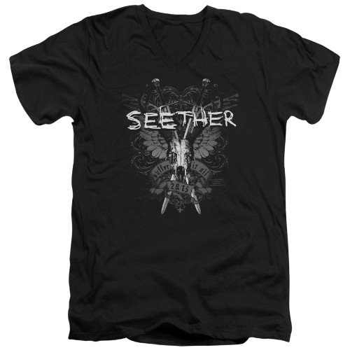 Image for Seether V Neck T-Shirt - Suffer