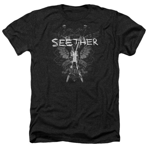 Image for Seether Heather T-Shirt - Suffer