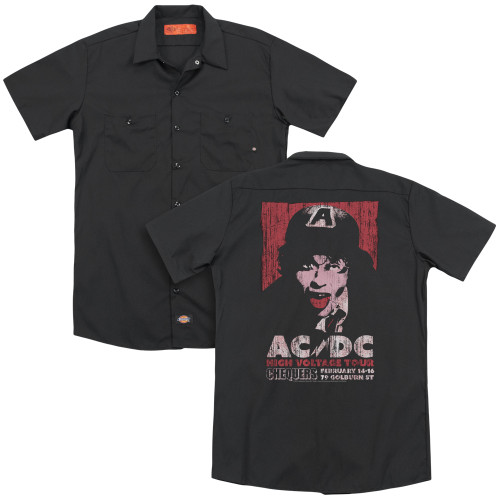 Image for AC/DC Dickies Work Shirt - High Voltage Live 1975
