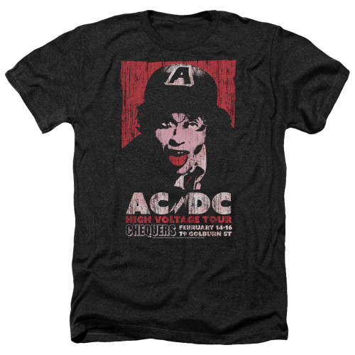 Image for AC/DC Heather T-Shirt - High Voltage Live 1975
