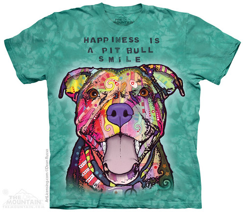 Image for The Mountain T-Shirt - Pit Bull Smile
