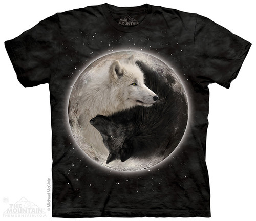 Image for The Mountain T-Shirt - Ying Yang Wolves