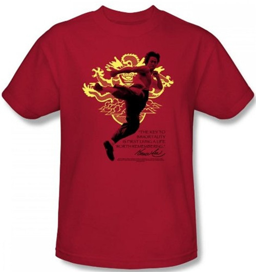 Image Closeup for Bruce Lee T-Shirt - Immortal Dragon
