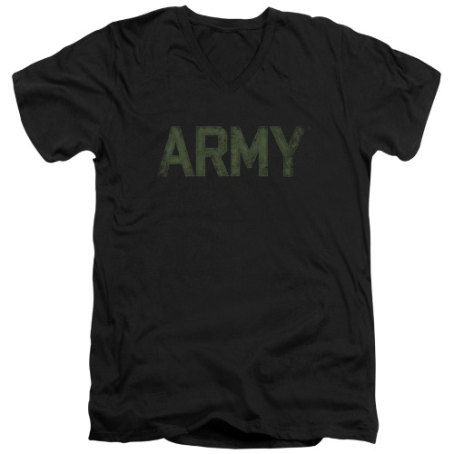 Image for U.S. Army V Neck T-Shirt - Type Logo