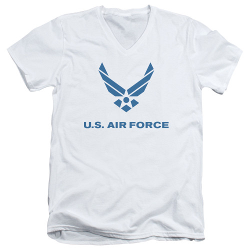 Image for U.S. Air Force V Neck T-Shirt - Distressed Logo