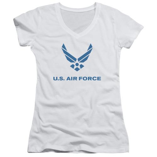Image for U.S. Air Force Girls V Neck - Distressed Logo