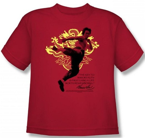Image for Bruce Lee Womans T-Shirt - Immortal Dragon