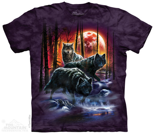 Image for The Mountain T-Shirt - Fire and Ice Wolves