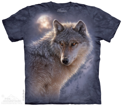 Image for The Mountain T-Shirt - Adventure Wolf
