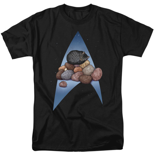 Image for Star Trek Cats T-Shirt - Five Year Nap