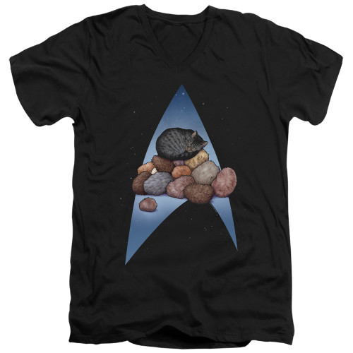 Image for Star Trek Cats T-Shirt - V Neck - Five Year Nap